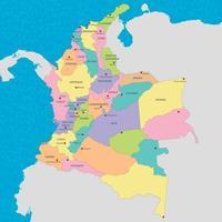 mapa de colombia vector