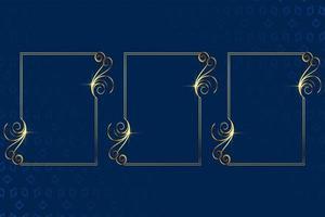 beautiful golden floral decoration frame background design vector