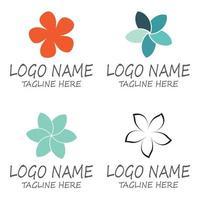Beauty plumeria icon flowers design illustration Template vector