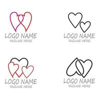 Love Logo and symbols Vector Template icons app