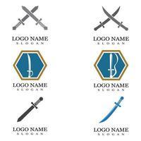 Sword illustration logo vector flat design