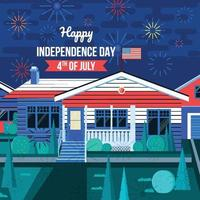 Independence Day Celebration in Neighborhood vector