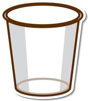Sticker empty glass white background vector