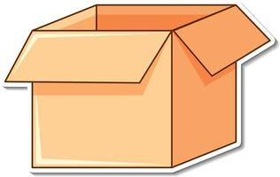 Sticker design with empty box open isolated vector