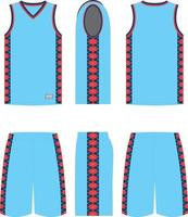 Hoop Basketball Uniforms vector