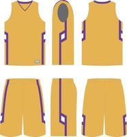 Back Board Basketball Uniforms vector