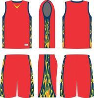 Jump Shot Basketball Uniform vector