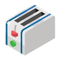 Toasting Machine Elements vector