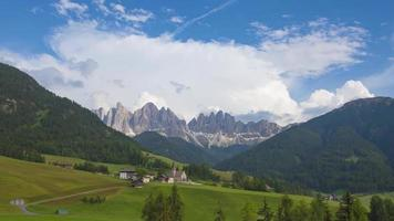 Val Di Funes a Mountain Landscape video