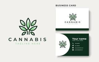 Cannabis Leaf Logo Template. Vector Illustration