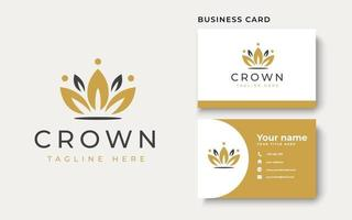 Crown Floral Logo Template Logo Template. Vector Illustration