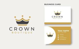 Golden Crown Logo Template. Vector Illustration