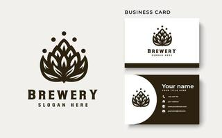 Brewery Logo Template. Vector Illustration