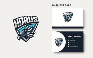 Horus esport gaming mascot logo template for streamer team. esport logo design with modern illustration concept style for badge, emblem and tshirt printing vector