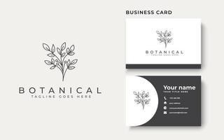 Botanical Flower Monoline Logo Template vector