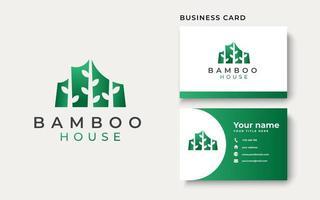 Bamboo House Logo Template Vector Illustration