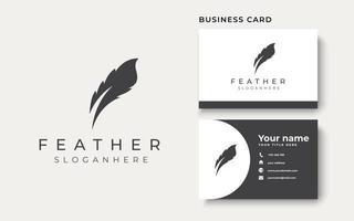 Feather Logo Template. Vector Illustation