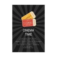 cinema time poster concept vector