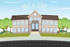 back to school landscape vector