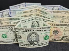 Economy and finance with american dollar money photo