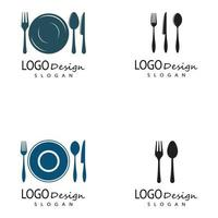 spoon and fork logo template illustration vector