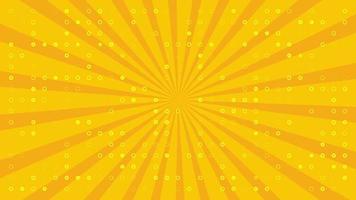 sfondo animato dinamico con cerchi pulsanti e sole su sfondo giallo video