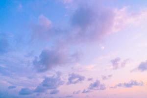 Sunset on sky photo