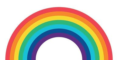 Beautiful multicolored rainbow, rainbow colors on a white background - Vector