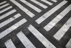 Zebra crossings in city photo