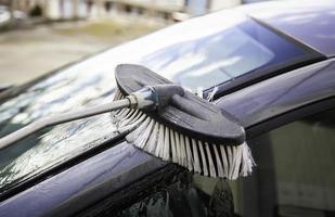 cepillo de lavado de autos foto