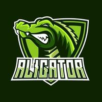 Alligator esport gaming mascot logo template vector
