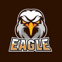 Eagle esport gaming mascot logo template vector