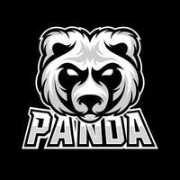 Panda Bear esport gaming mascot logo template vector