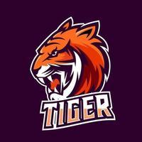 Tiger esport gaming mascot logo template vector