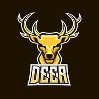 Deer esport gaming mascot logo template vector
