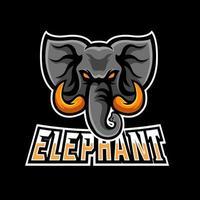 Elephant esport gaming mascot logo template vector