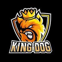 King Bulldog dog animal esport gaming mascot logo template vector
