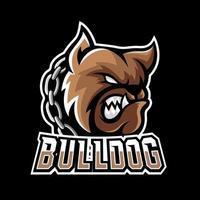 Bulldog dog animal esport gaming mascot logo template vector