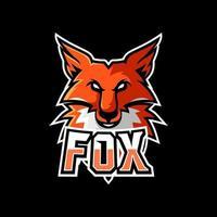 Fox esport gaming mascot logo template vector