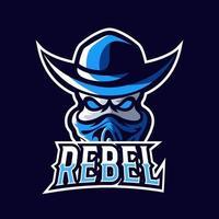 Rebel bandit sport or esport gaming mascot logo template vector