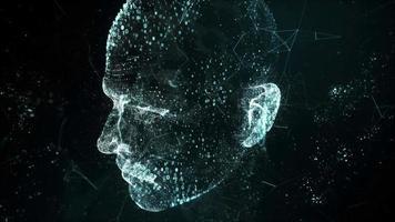 Digital human head scan video concept 3d technology internet HD