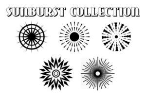 Sunburst Set Vector eps 10