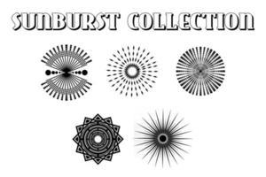 Sunburst Collection Vector