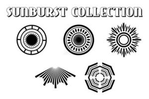Sunburst collection vector illustration