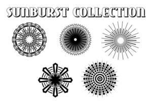 retro starbursts designs vector