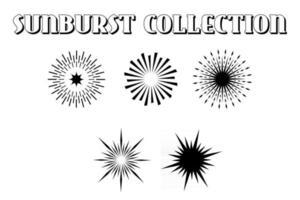 Set Trendy Retro Sunburst vector