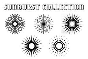 Sunburst icon. Burst vector. Sunburst set. Linear style. - vector illustration