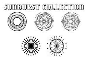 Vintage grunge sunburst collection. vector