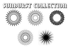 Retro sunburst design. vector