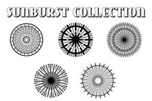 Big collection sunburst best quality. Burs.Sunrise rays light burst line shine sunshine sunbeam vintage border symbol. vector